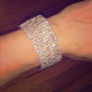 Rhinestone bracelet.